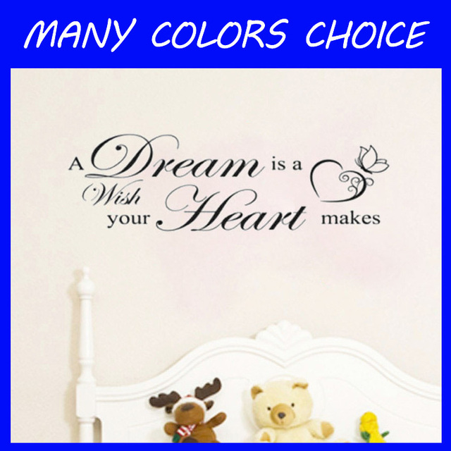 A Dream Is A Wish Your Heart Makes Wall Art Decals Living Room Decoration  Bedroom Wallpaper