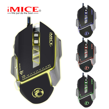 Wired Gaming Mouse Macro Custom 7 Buttons  3200DPI Optical Mouse Gamer Colorful Backlight Breath Mice For PC Laptop V9