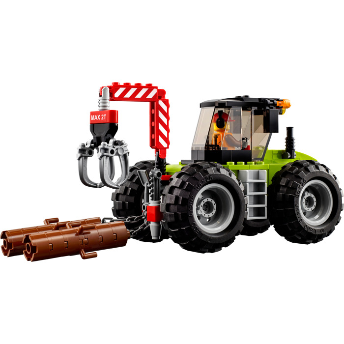 194pcs City Series of Forestry Tractor Engineering Vehic Building Blocks Compatible With 60181 Bricks Toy For Kids