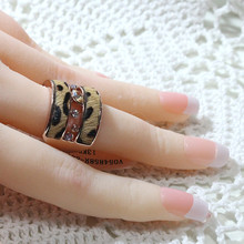 Black Friday Rings For Women Christmas Gifts Vintage Ring Jewelry Leopard Rhinestones Finger Rings anillos mujer anel JZ041