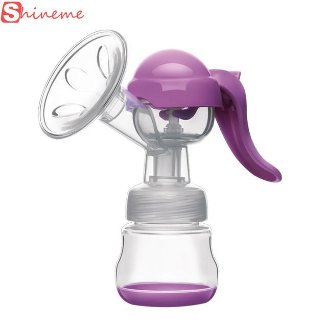 Marca de 2 colores de silicona libre de bpa bebé leche materna extractor de leche manual de la bomba bombas de precios accesorios para botellas de bebé cuidado de la madre