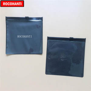 24d8bcb4fd ROCOHANTI Custom Printed Black Zipper Plastic Bag With Logo