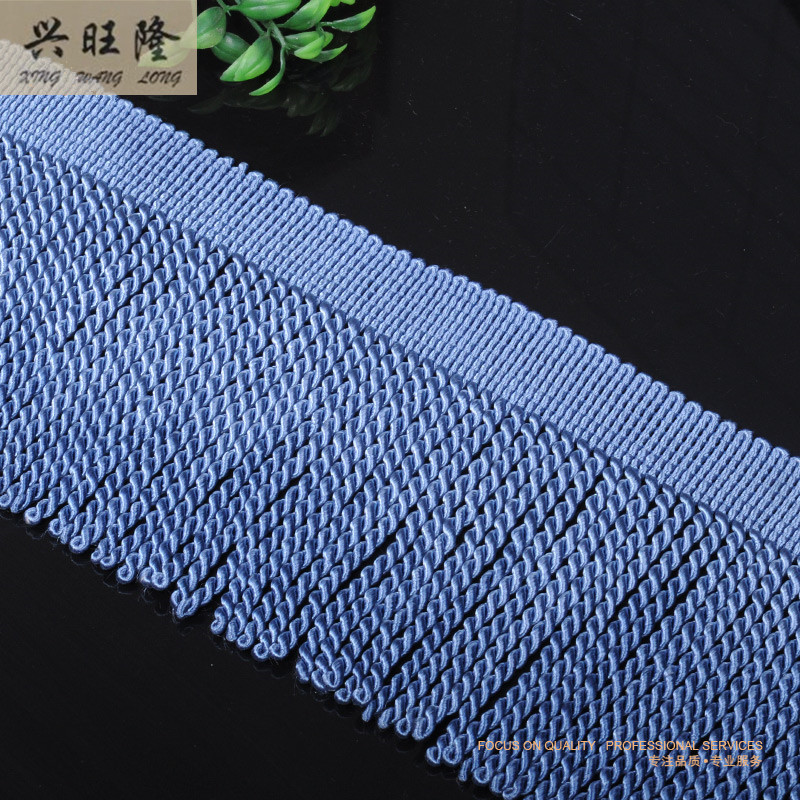 XWL 12M/Lot 14cm Wide Rayon Twisted Trimming Rope Lines Tassel Curtain Lace Accessories Fringes Ribbons DIY For Sofa Clothing