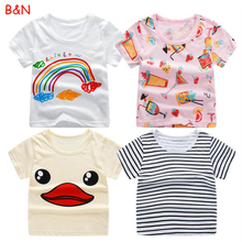 B&N New Baby Kids Girls T-shirt Child Clothing Childrens Tops Summer Clothes Short Sleeve Tee blouse Shirts Cartoon стоимость