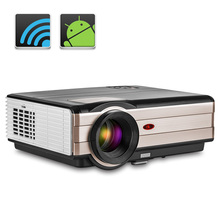 4000 Lumens Home Cinema LED Projector Full HD Video Backyard Mobile Beamer HDMI VGA USB Fo