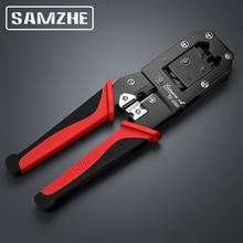 SAMZHE Crimpen Zange Draht Tracker RJ11/12/45 Kabel Crimper Strippen für 6P/8P Ethernet und Telefon kabel, Der