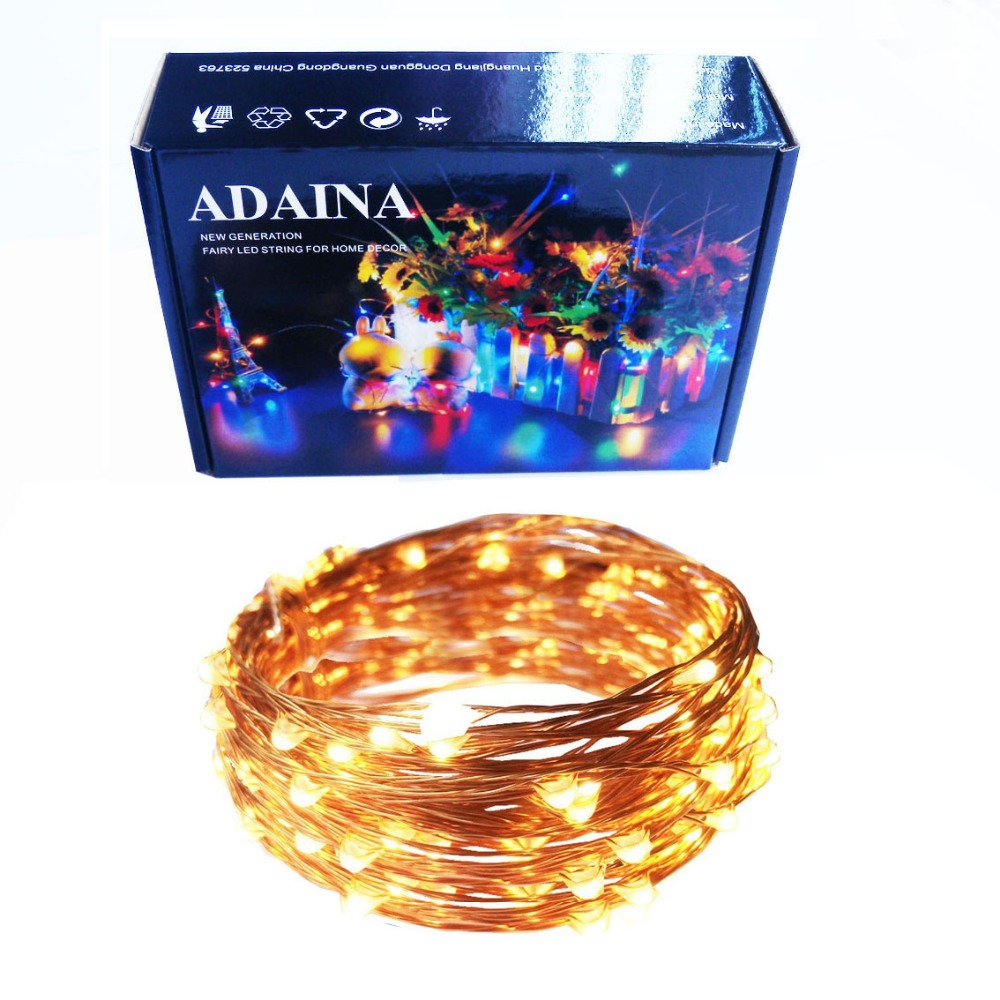 99ft 30M 300 LED'er Kobber Wire LED Fairy String Lights Udendørs Vandtæt Dekoration til jul Starry Garland Firefly Light