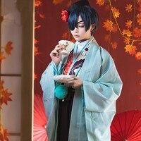 Black Butler Free Shipping Kuroshitsuji Cosplay Anime Japanese Kimono Tea House Ciel Phantomhive Cosplay Costume