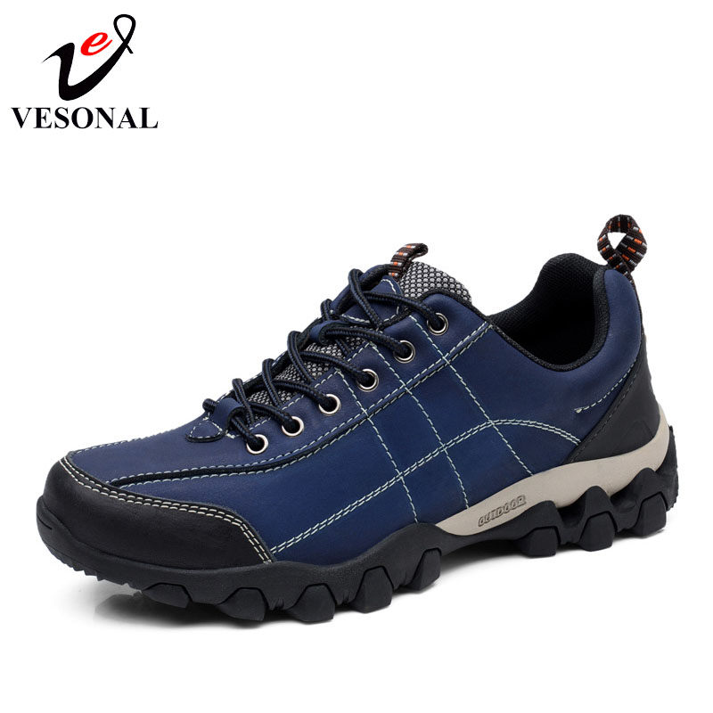 VESONAL Brand 2018 High Quality Genuine Leather Walking Sneakers For Men Shoes Male Casual Spring Autumn Comfortable Footwear vesonal 2017 quality mocassin male brand genuine leather casual shoes men loafers breathable ons soft walking boat man footwear