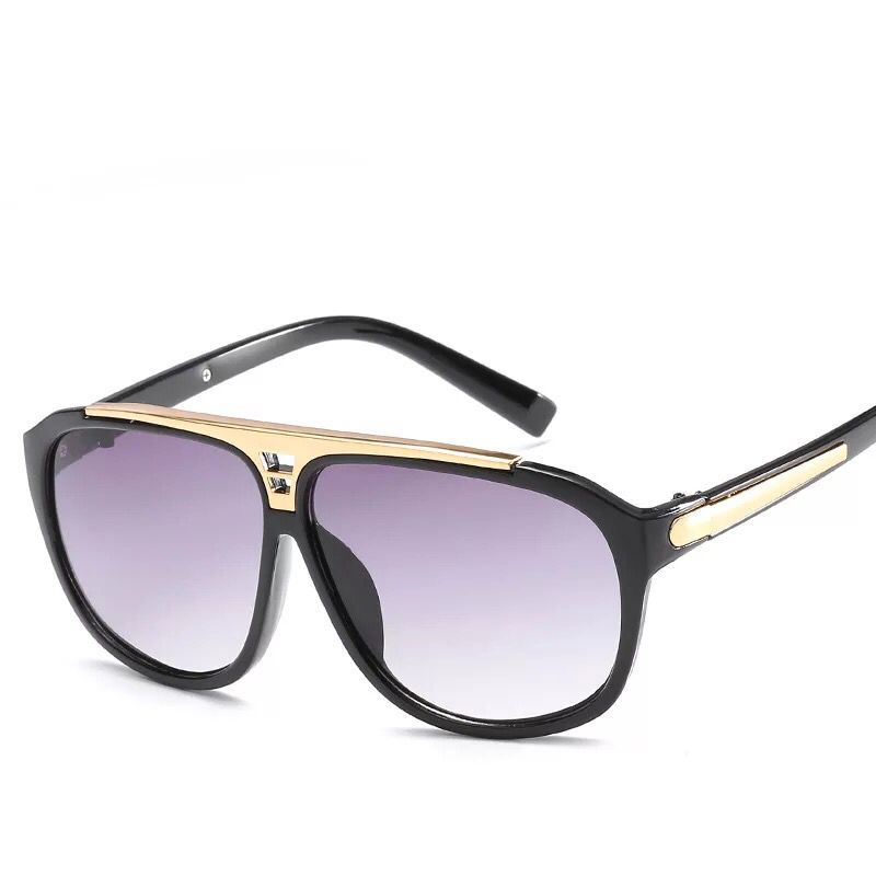Fashion Men's Driving Sunglasses Black for Sale Oversized Big Designer Sun Glsses for Woman and Man with Case Discount Big Frame(China)