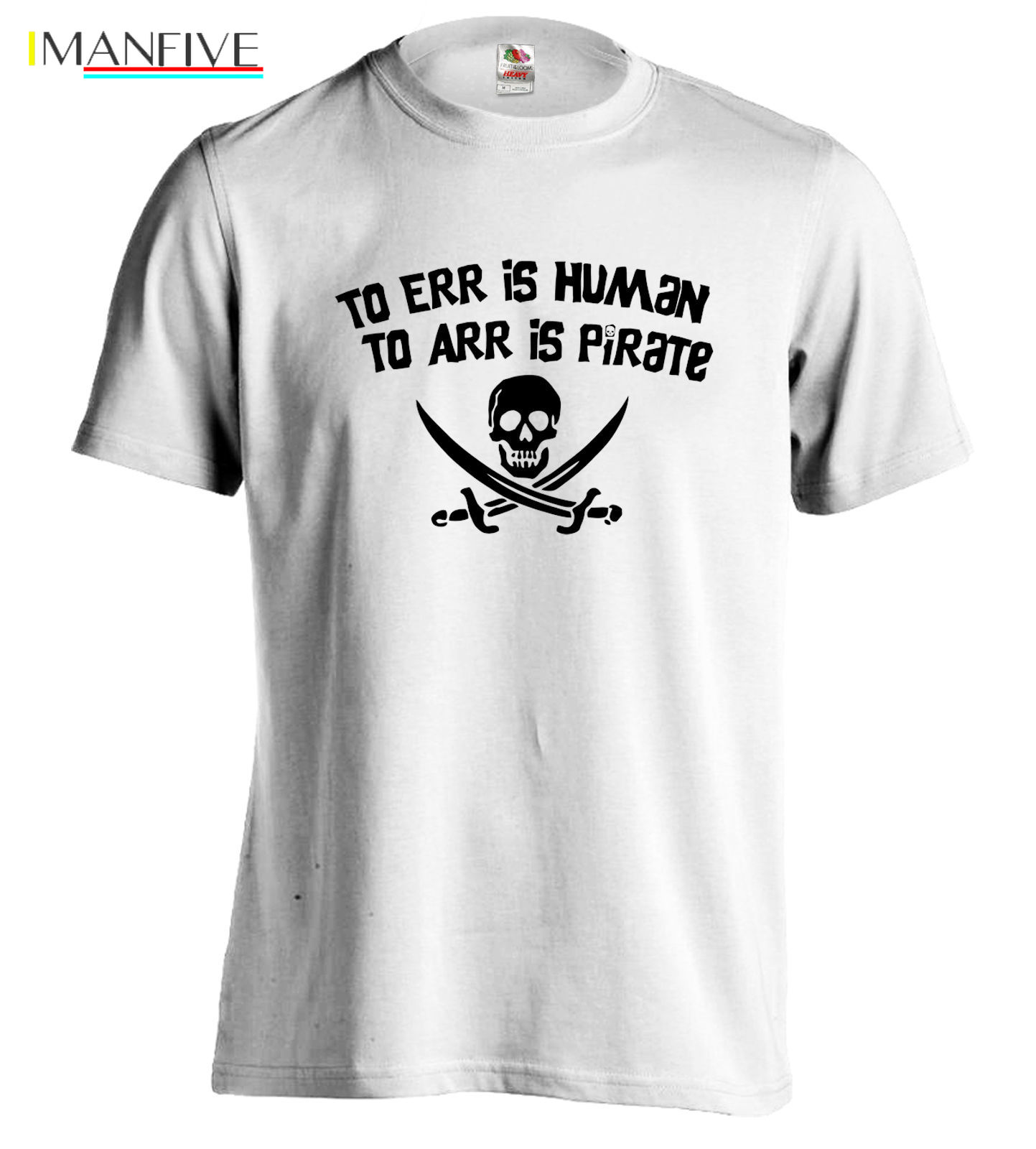 Pirate Tee Skull Crossbones T-Shirt Jolly Roger Tshirt Swords Funny T ARR ERR