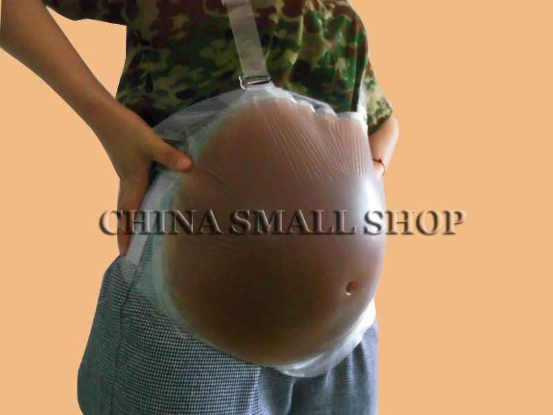 4-5 Month 1500g Artificial Silicone Belly Fake Jelly Belly For False Pregnancy Hot Sell Retail & Wholesale Free shipping pregnancy belly nudeskin 1500g silicone belly soft lifelike moq1 free shipping fake belly for crossdresser drag queen xinxinmei