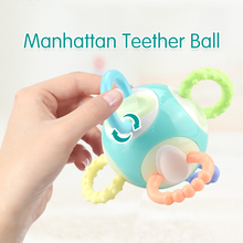 Newest Baby Toy Rattle Teether Mobile 0-12month Little Loud Bell Ball Grasping Fun Hand Shake Developmental Gift 4 style