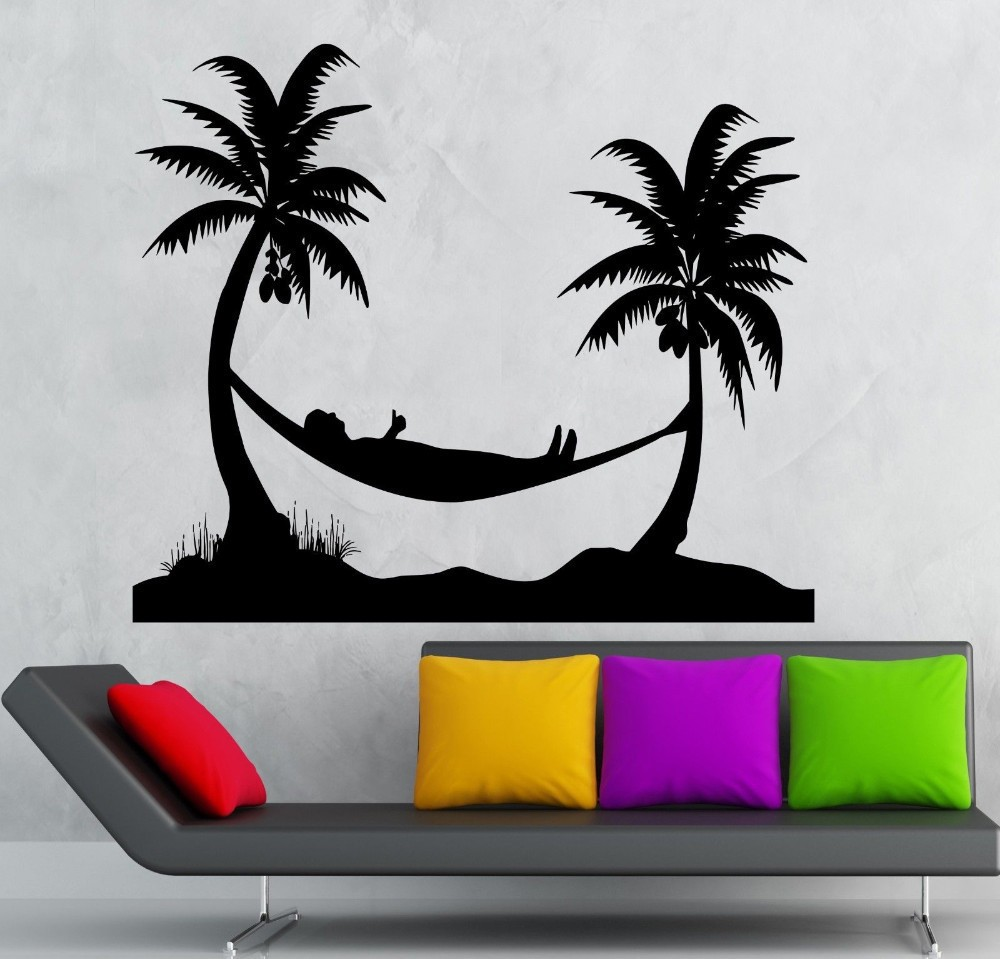 Removable Wall Decals Palm Trees