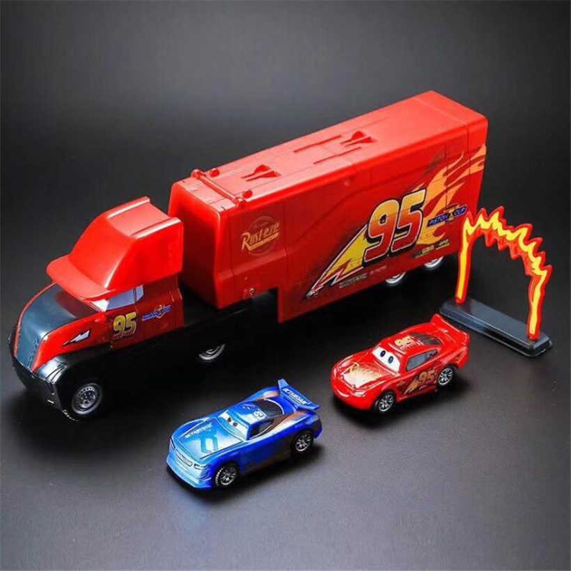 Cars Disney Pixar Cars 3 Metal Alloy Jackson Container Truck Diecast Toy Car 1:18 Loose Brand New In Stock Disney цена