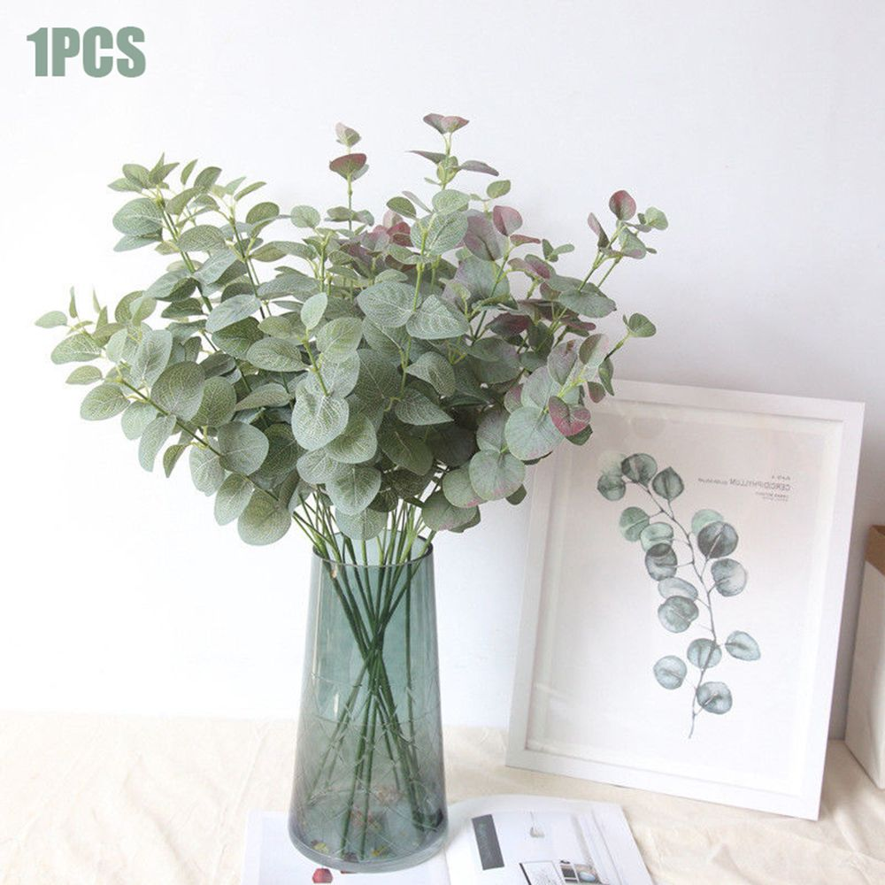 1M Artificial Eucalyptus Branches Plants With Stems Wedding Home Greenery Decor