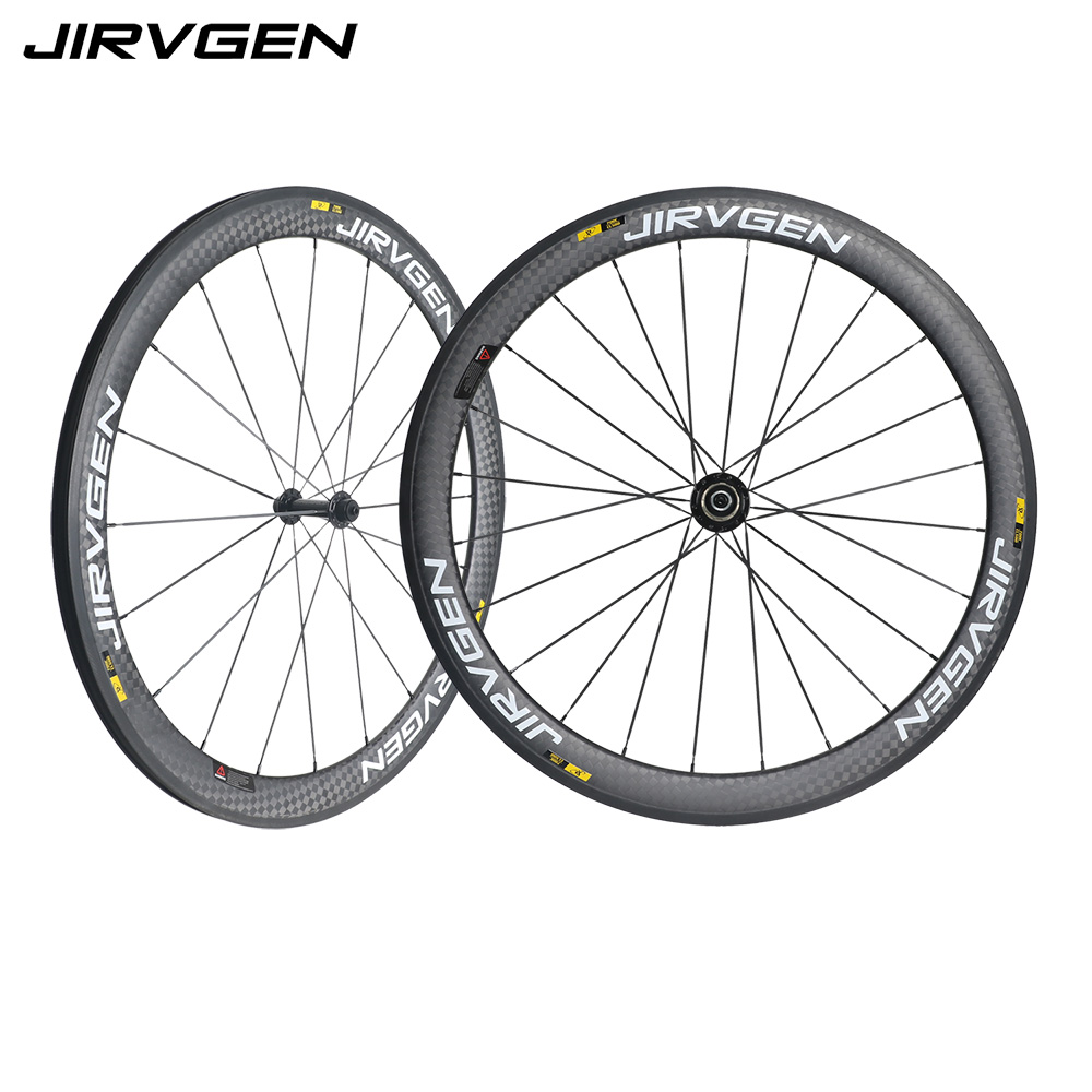 где купить Carbon Wheels 50mm 12K weave Bicycle rim black/white/gray 700C Road Bike Carbon Wheelset clincher Basalt braking surface дешево