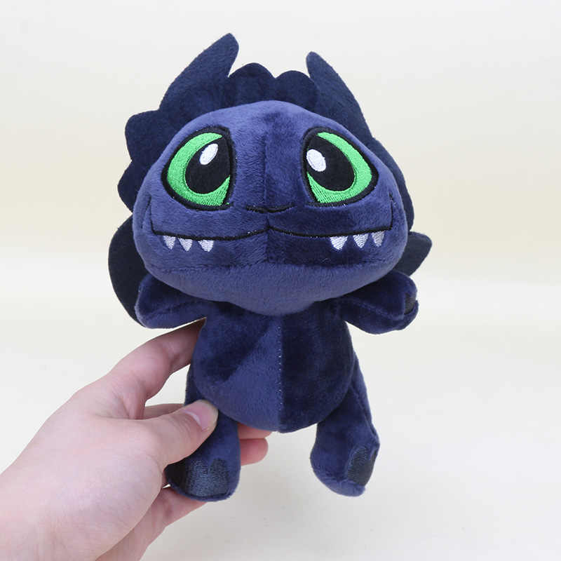 18 cm Desdentado How To Train Your Dragon Plush Fúria Fúria Da Noite de Luz Brinquedos de Pelúcia de Algodão Macio Animal Plush Dolls presente das crianças