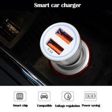 3.1a 5v carregador de carro duplo usb com display led universal telefone carro-carregador para xiaomi samsung s8 iphone x 8 plus tablet etc #35