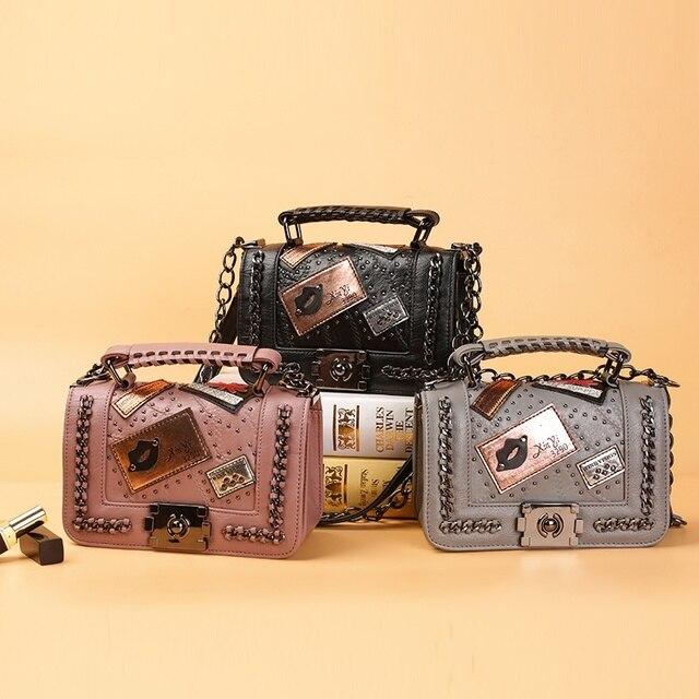 6ffc85cfba48 Для женщин Цепи Курьерские сумки Новинка 2017 года Винтаж сумка женская  известный бренд Crossbody сумка для