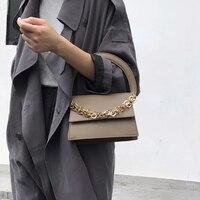 Fashion Leather Handbag Women 2017 Gold Chains Female Clutch Tote Bag Chic Small Purse Sling Strap