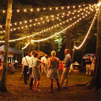 1X 25ft 7 5M G40 Globe Xmas String Light Vintage Patio Garden Light String For Deco