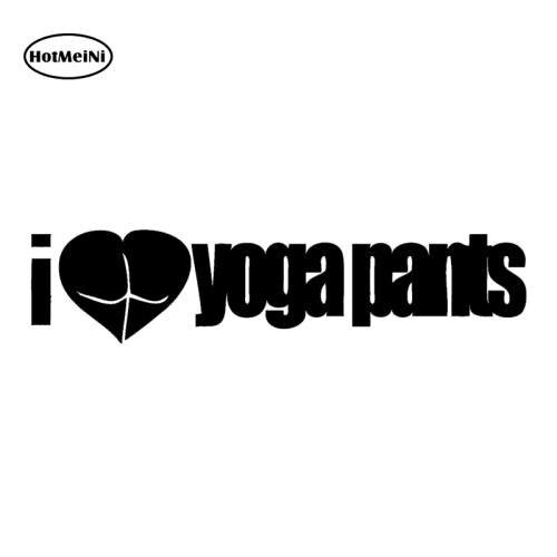 <+>  MeiNi Я сердце йога штаны Наклейка на машину любовь тренажерный зал милашки добыча смешно JDM Грузов ①