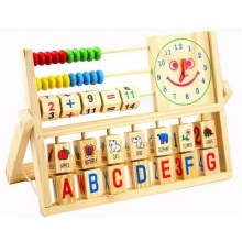 Wooden Montessori Math Toys For Children Clock Preschool Training Learning Educational Toy Brinquedos Juguetes Brinquedo 49 недорого