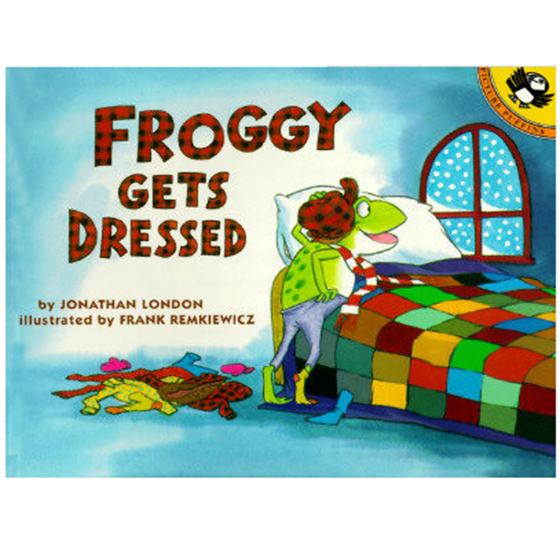 Froggy Gets Dressed By Jonathan London Educational English Picture Book Learning Card Story Book For Baby Kids Children GiftsFroggy Gets Dressed By Jonathan London Educational English Picture Book Learning Card Story Book For Baby Kids Children Gifts