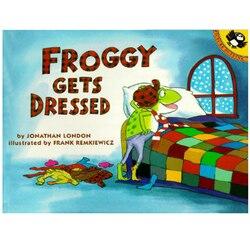 Froggy ubiera się przez jonathana London edukacyjna angielska książka obrazkowa karta do nauki książka przygodowa dla dzieci prezenty dla dzieci