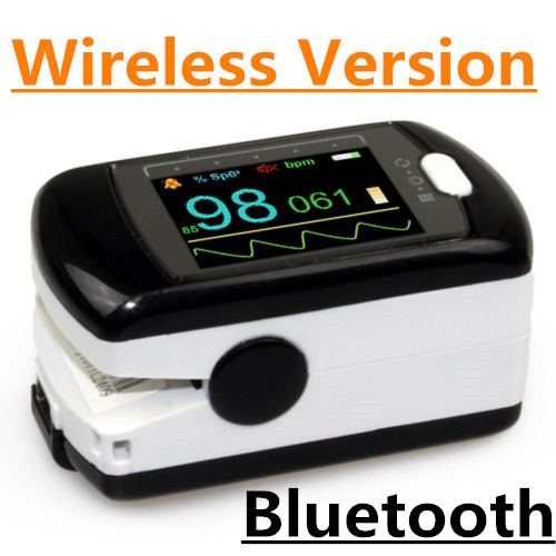 Color OLED AH-50EW Health CE FDA Audio Alarm Finger Oximeter Pulse Oxygen SPO2 Monitor USB Bluetooth Wireless Software