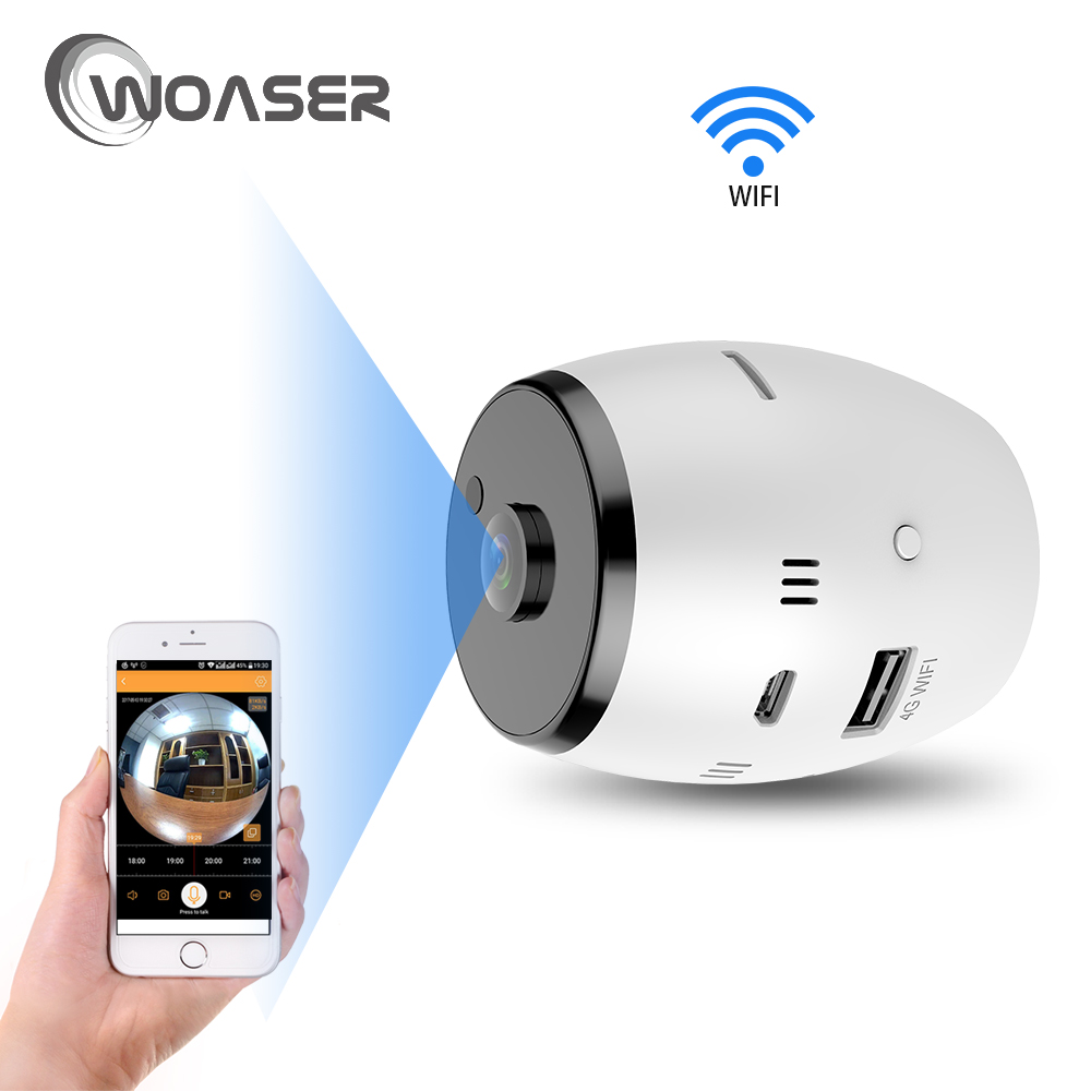WOASER HD 1.3MP FishEye IP Camera Two Way Intercom Home Security WiFi Camera Infrared 960P Body Monitor Motion Detection Camera blueskysea 2k hd s60 body personal security