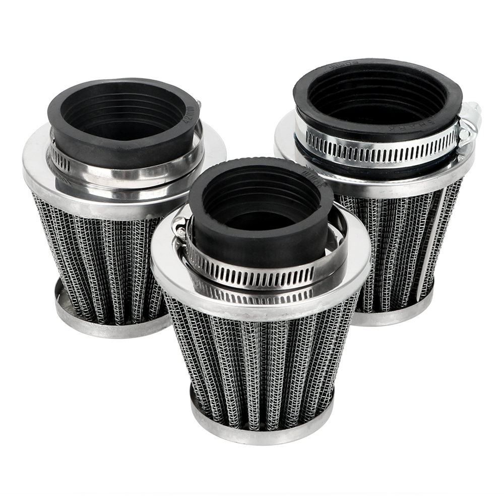 LEEPEE Universal Clamp On Air Filter Cleaner 39/42/50/mm Caliber Size Motorcycle Mushroom Head Air Filter Motorcycle Filters