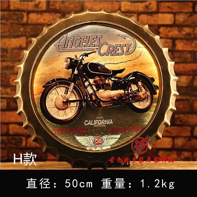 ANGELES CEST grande HD bière couverture étain signe Logo Plaque Vintage métal peinture mur autocollant fer signe Bar KTV magasin décoratif