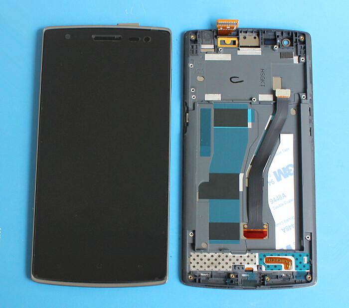 """Prix pour Haute qualité lcd écran + écran tactile pour oppo oneplus one téléphone portable 5.5 """"1920*1080 fhd noir couleur avec cadre"""