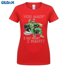 woman short sleeve t shirt Loki T Shirt Avengers Thor You Mad I do what I want womans summer hip- hop streetwear t shirt