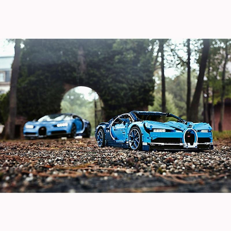 Technic Supercar Blue Chiron Bugatti fit for LegoING 42083 race car children bricks model building gift for kids toys