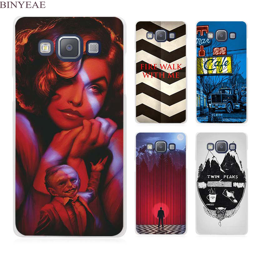 BINYEAE Welcome To Twin Peaks Clear Transparent Cell Phone Case Cover for Samsung Galaxy A3 A5 A7 A8 A9 2016 2017