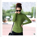 Basic turtleneck shirt female long-sleeve plus size plus size 100% cotton long johns slim t-shirt medium-long plus size female