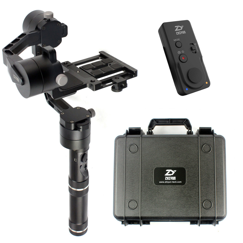 Original Zhiyun Crane Handheld Stabilizer Gimbal With Suitcase and New Black Remote Control for DSLR Canon Cameras Support 1.8KG