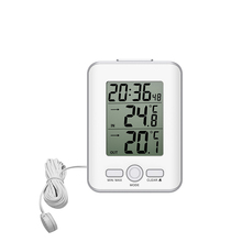 Sale Digital thermometer and hygrometer Indoor and outdoor thermometer wired thermometer 3 meters long probe thermometer waterproof