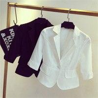 Female Blazer Outerwear 2016 Spring And Autumn Women Suit Slim Design Women Blazer White Suit Fashion
