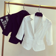blazer  2017 spring and autumn women suit slim design women blazer white suit fashion jacket coat femme mz697