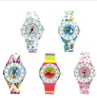 2016 New Willis Mini Flowers Design Analog Women Waterproof Watch Boys Girls Children Watch 4589