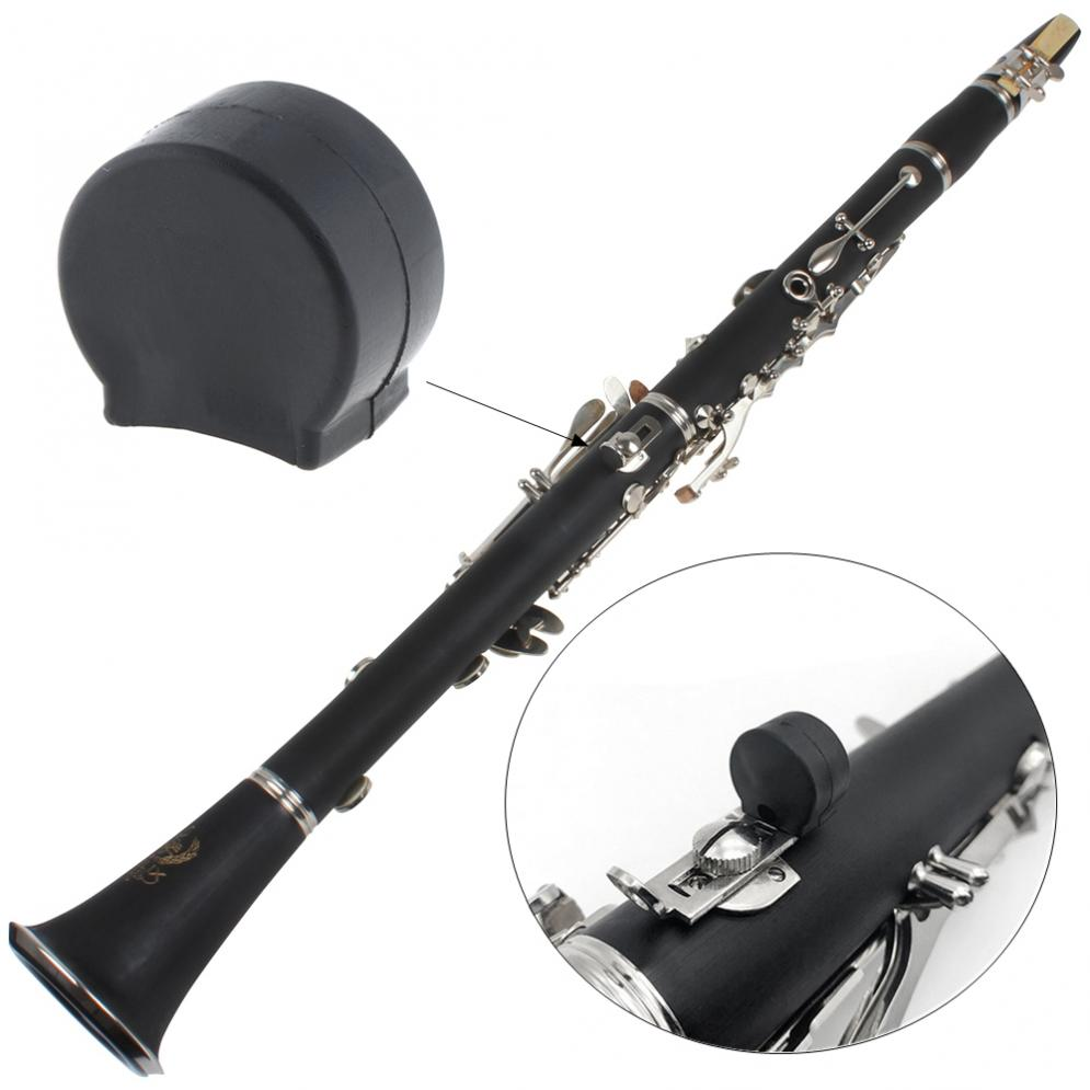 Rubber Clarinet Black Resilient  Thumb Rest Saver Cushion Pad Finger Protector Comfortable For Clarinet