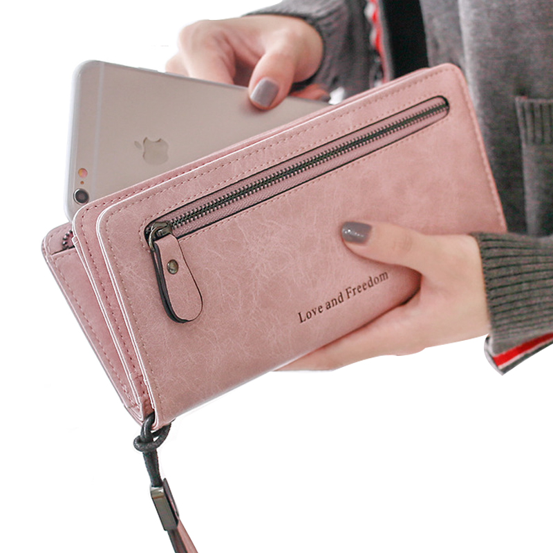 2017 New Multicolor Ms. Wax Leather Wallet Long Clutch Phone Female Long Paragraph Leather Wallets Purse For Women Free Shipping yuanyu 2018 new hot free shipping python leather women purse female long women clutches women wallet more screens women wallet