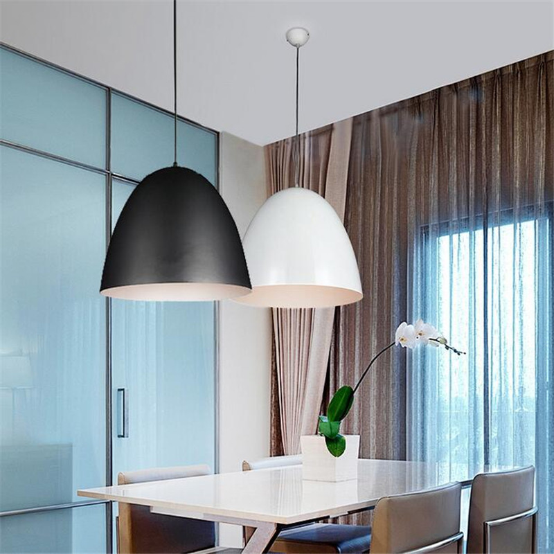 Classical Black/White Aluminum Led E27 Pendant Light for Dining Room Restaurant Bar Dia 25/30/40/60cm AC 80-265V 1608 1 pcs waterproof multi speed dildo vibrator cilt vibrators penis vibrator sex products vibrator adult sex toys for woman