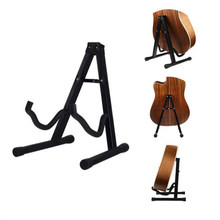 Folding Tripod Stand holder Acoustic Guitar Electric Bass Black Fits acoustic and electric guitars(China)