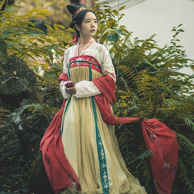 2020 hanfu ancient chinese costume women chinese festival performance gown folk dance loose style female tang suit hanfu