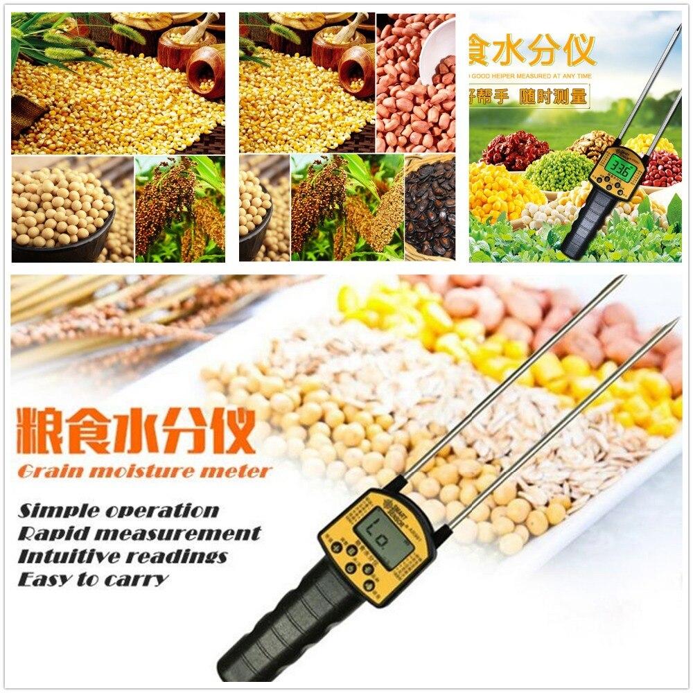 Beliebte Marke Getreide Feuchtigkeit Meter Digitale Feuchtigkeit Meter Smart Sensor Ar991 Verwenden Für Mais, Weizen, Reis, Bohnen, Weizen Mehl Futter Raps Samen